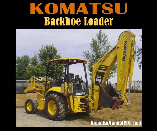 Komatsu wb146 manual